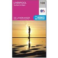 Ordnance Survey Landranger 108 Liverpool, Southport & Wigan Map With Digital Version, N/A