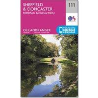 Ordnance Survey Landranger 111 Sheffield & Doncaster, Rotherham, Barnsley & Thorne Map With Digital Version, Orange