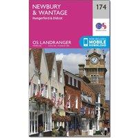 Ordnance Survey Landranger 174 Newbury & Wantage, Hungerford & Didcot Map With Digital Version, N/A
