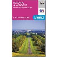Ordnance Survey Landranger 175 Reading, Windsor, Henley-on-Thames & Bracknell Map With Digital Version, Orange