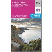 Ordnance Survey Landranger 180 Barnstaple & Ilfracombe, Lynton & Bideford Map With Digital Version, Orange