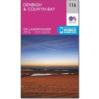 Ordnance Survey Landranger 116 Denbigh & Colwyn Bay Map With Digital Version, Pink