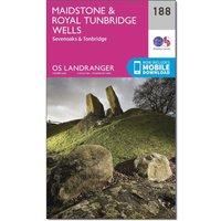 Ordnance Survey Landranger 188 Maidstone & Royal Tunbridge Wells Map With Digital Version, Orange