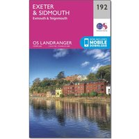 Ordnance Survey Landranger 192 Exeter & Sidmouth, Exmouth & Teignmouth Map With Digital Version, Orange