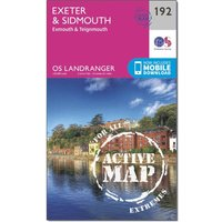 Ordnance Survey Landranger Active 192 Exeter & Sidmouth, Exmouth & Teignmouth Map With Digital Version, N/A