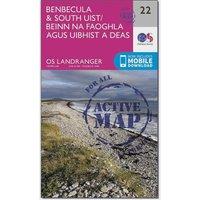 Ordnance Survey Landranger Active 22 Benbecula & South Uist Map With Digital Version, N/A