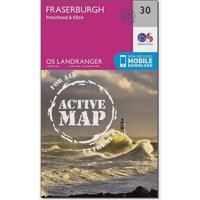 Ordnance Survey Landranger Active 30 Fraserburgh, Peterhead & Ellon Map With Digital Version, Orange
