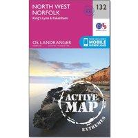 Ordnance Survey Landranger Active 132 North West Norfolk, Kings Lynn & Fakenham Map With Digital Version, Orange