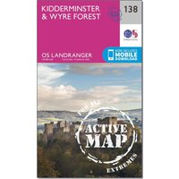 Ordnance Survey Landranger Active 138 Kidderminster & Wyre Forest Map With Digital Version, Orange