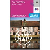 Ordnance Survey Landranger Active 168 Colchester, Halstead & Maldon Map With Digital Version, Orange