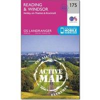 Ordnance Survey Landranger Active 175 Reading, Windsor, Henley-on-Thames & Bracknell Map With Digital Version, Orange