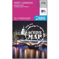Ordnance Survey Landranger Active 176 West London, Rickmansworth & Staines Map With Digital Version, Assorted