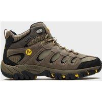 Merrell Mens Ridgepass Mid Waterproof Shoes, Brown