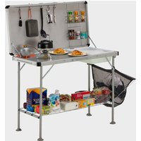 Vango Cuisine Kitchen Table - Silver, Silver