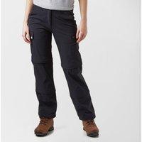 Peter Storm Womens Stretch Double Zip Off Trousers - Black/Blk, Black/BLK