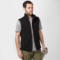 Peter Storm Mens Carrick Fleece Gilet, Black