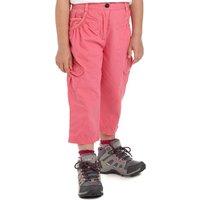 Regatta Girls Moonshine Capri Pants, Pink
