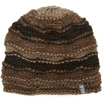 Jack Wolfskin Womens Fluffy Yarn Hat, Brown