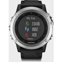 garmin fenix 3 silver hr multisport watch  black, black