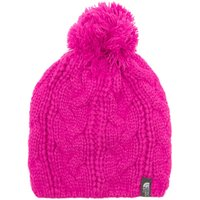 The North Face Womens Bigsby Pom-Pom Beanie, Pink