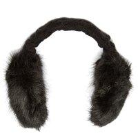 Barts Womens Fake Fur Earmuffs, Black