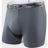 Saxx Men's Quest 2.0 Boxer Briefs, Grey/Grey