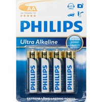 Phillips Ultra Alkaline AA Batteries 4 Pack - Multi, Multi