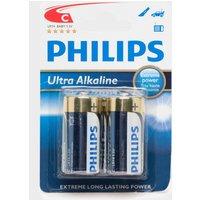 Phillips Ultra Alkaline C LR14 1.5V Batteries 2 Pack, Assorted