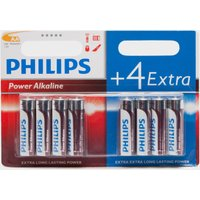 Phillips Ultra Alkaline AA LR6 Batteries 8 Pack - Red, Red