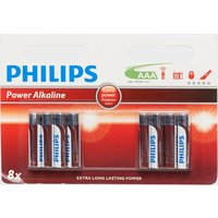 Phillips Ultra Alkaline AAA LR03 Batteries 8 Pack - Red, Red