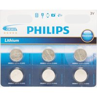 Phillips Lithium Coin Watch Batteries Cr2032 6 Pack  Blue