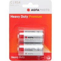 AGFA Zinc Chloride Heavy Duty C R14 1.5V Batteries