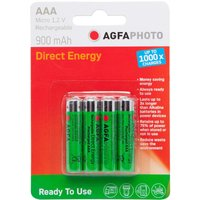 Agfa Rechargeable AAA 1.2V Batteries 4 Pack, Assorted