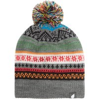 Peter Storm Womens Anna Pom-Pom Hat, Grey/White/Brown