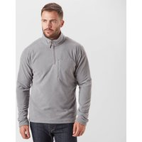 Brasher Men's Bleaberry II Half Zip Fleece, Grey
