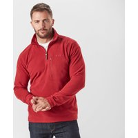 Brasher Men's Bleaberry II Half Zip Fleece, Red