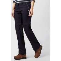 Craghoppers Women's Kiwi Pro Stretch Convertible Trousers, Navy