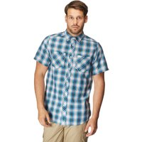 Craghoppers Mens Nico Short Sleeve Shirt, Blue