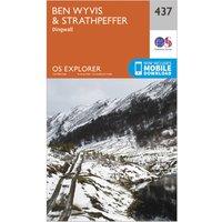 Ordnance Survey Explorer 437 Ben Wyvis & Strathpeffer Map With Digital Version, Orange