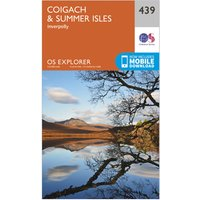 Ordnance Survey Explorer 439 Coigach & Summer Isles Map With Digital Version, Orange
