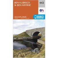 Ordnance Survey Explorer 443 Ben Klibreck & Ben Armine Map With Digital Version, Orange