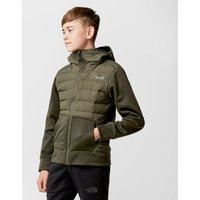 The North Face Kid's Mitteleggi Down Hybrid Hoodie, Green
