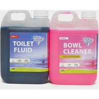 Blue Diamond Toilet Twin Pack - Blue/Pink, blue/pink