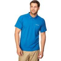 Columbia Mens Cool News Short Sleeve Polo Shirt, Blue
