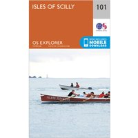 Ordnance Survey Explorer 101 Isles of Scilly Map With Digital Version, Orange/D
