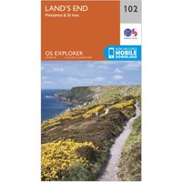 Ordnance Survey Explorer 102 Land's End Map With Digital Version, Orange/D
