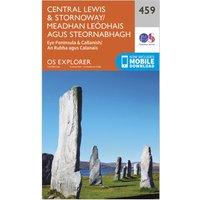Ordnance Survey Explorer 459 Central Lewis & Stornoway Map With Digital Version - Orange, Orange