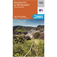 Ordnance Survey Explorer 105 Falmouth & Mevagissey Map With Digital Version, N/A