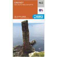 Ordnance Survey Explorer 462 Orkney Map With Digital Version, Orange