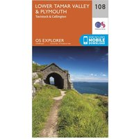 Ordnance Survey Explorer 108 Lower Tamar Valley & Plymouth Map With Digital Version, Orange